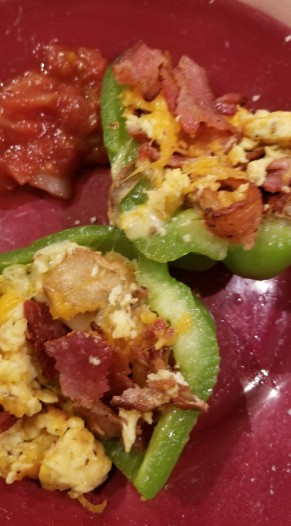 BREAKFAST STUFFED BELL PEPPERS